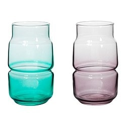 "OLIK vase, assorted colors Height: 4 ¾ "" Height: 12 cm"