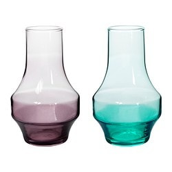 OLIK vase, assorted colours Height: 13 cm