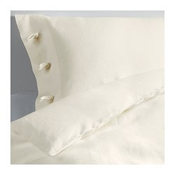 LINBLOMMA quilt cover and pillowcase, white Quilt cover length: 200 cm Quilt cover width: 150 cm Pillowcase length: 50 cm