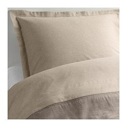 MALOU quilt cover and 2 pillowcases, light brown Quilt cover length: 200 cm Quilt cover width: 150 cm Pillowcase length: 50 cm