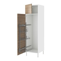 "AKURUM high cab/pull-out interior fittings, Sofielund light gray, white Width: 23 7/8 "" Depth: 24 1/8 "" Height: 88 1/4 "" Width: 60.8 cm Depth: 61.2 cm Height: 224.3 cm"