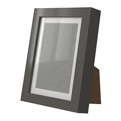 "RIBBA frame, gray, high gloss Picture without mat, width: 5 "" Picture without mat, height: 7 "" Picture with mat, width: 4 "" Picture without mat, width: 13 cm Picture without mat, height: 18 cm Picture with mat, width: 10 cm"