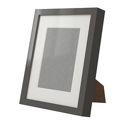 "RIBBA frame, high gloss, gray Picture without mat, width: 7 ¾ "" Picture without mat, height: 9 ¾ "" Picture with mat, width: 5 "" Picture without mat, width: 20 cm Picture without mat, height: 25 cm Picture with mat, width: 13 cm"