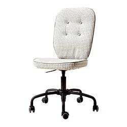 LILLHÖJDEN swivel chair, grey patterned Tested for: 110 kg Width: 70 cm Depth: 70 cm