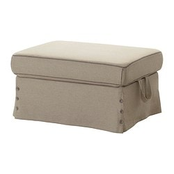 EKTORP footstool cover, Risane natural