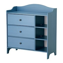 TROGEN chest of drawers, blue Width: 100 cm Depth: 42 cm Depth of drawer: 41 cm