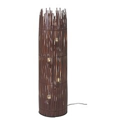 ROTVIK floor lamp, brown, bamboo Height: 116 cm Shade diameter: 31 cm Cord length: 2.2 m