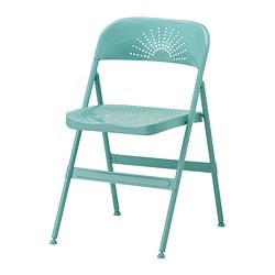FRODE, Folding chair, turquoise