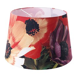 HÖRJA shade, flowers red, assorted designs Diameter: 45 cm
