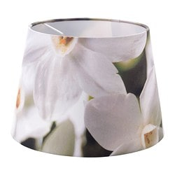 HÖRJA shade, flowers white, assorted designs Diameter: 23 cm