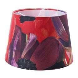 HÖRJA shade, flowers red, assorted designs Diameter: 23 cm