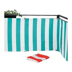 DYNING wind-/sunshield, assorted colours Length: 250 cm Width: 80 cm