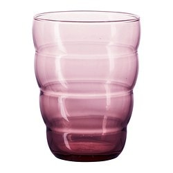 SKOJA glass, lilac Height: 10 cm Volume: 31 cl