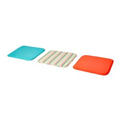 RISÖ chair pad, assorted colours Length: 34 cm Width: 34 cm Thickness: 1 cm