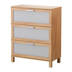 AUSTMARKA chest of 3 drawers, oak effect Width: 80 cm Width of drawer: 73 cm Depth: 40 cm