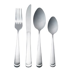 GRÖNLING 24-piece cutlery set, stainless steel