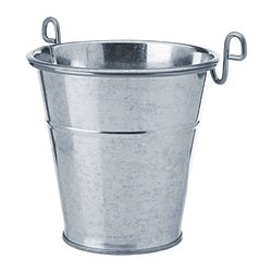 "FINTORP cutlery caddy, nickel plated, galvanized Diameter: 5 1/8 "" Height: 5 1/8 "" Diameter: 13 cm Height: 13 cm"
