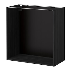 metod korpus unterschrank holzeffekt schwarz ikea. Black Bedroom Furniture Sets. Home Design Ideas