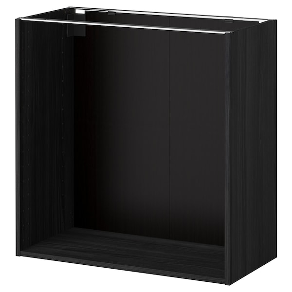 Metod Base Cabinet Frame Wood Effect Black Ikea