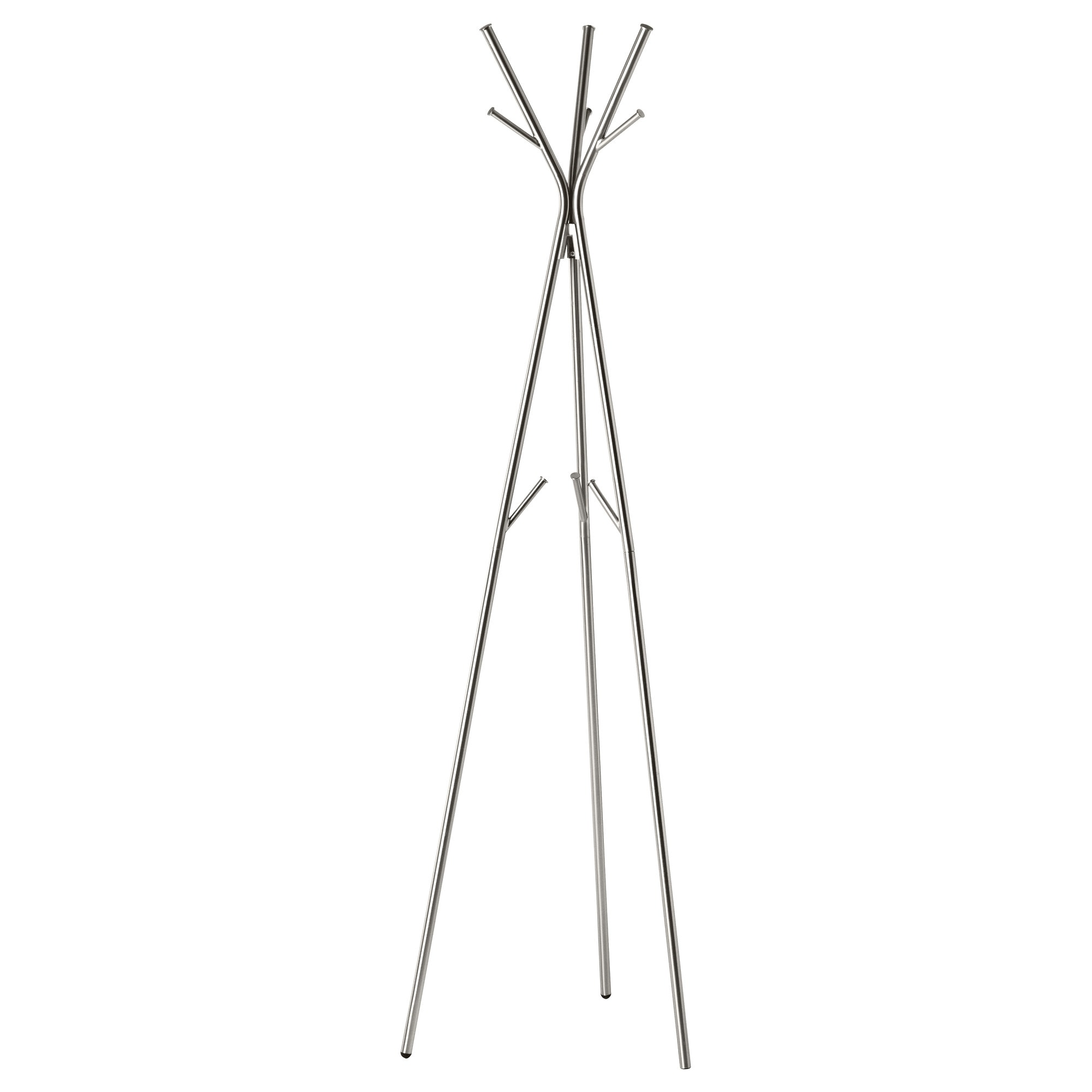 racks  stands  ikea - knippe hat and coat stand nickel plated width    height