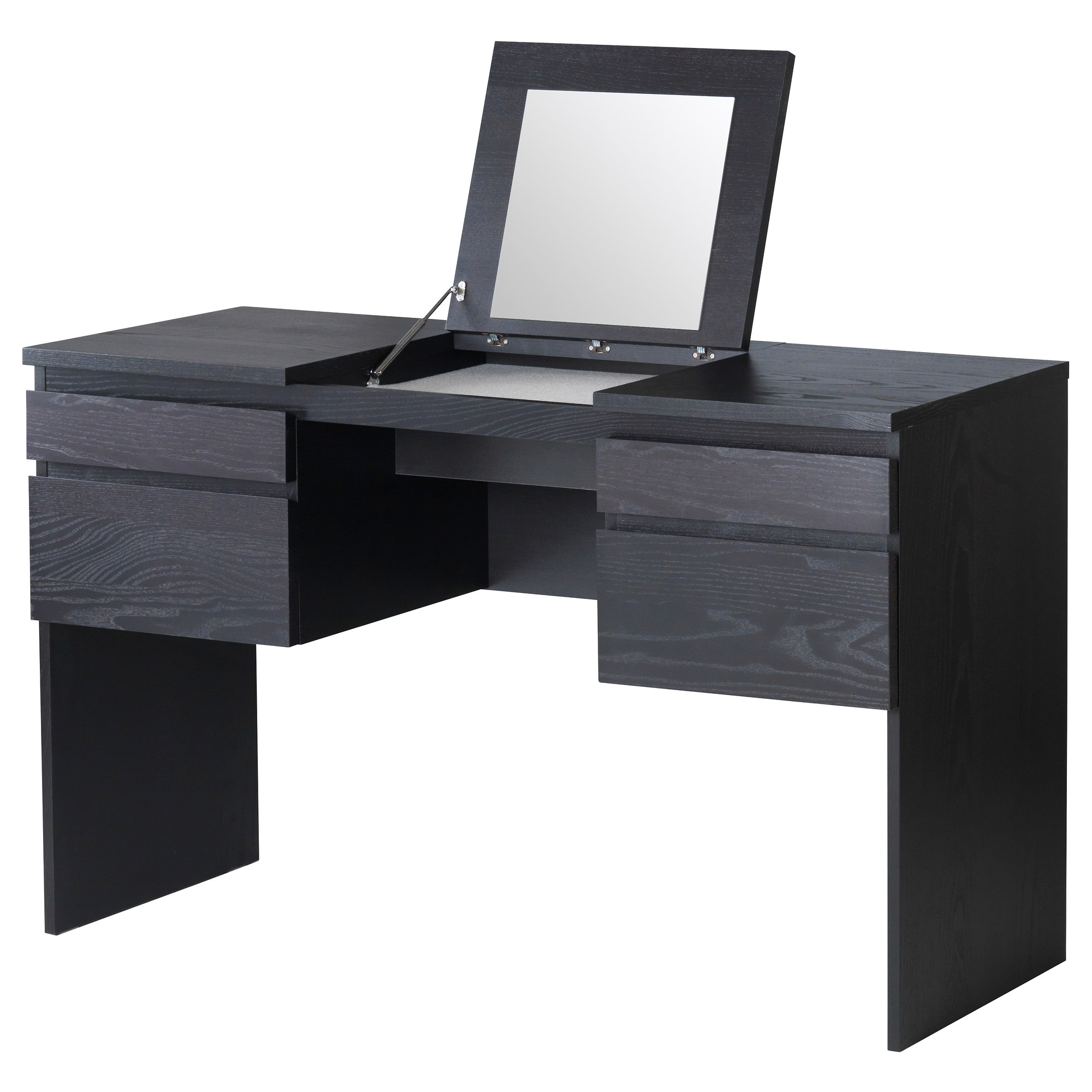Black Vanity Table With Mirror Viewing Gallery