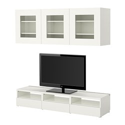 BESTÅ TV storage combination, white Width: 180 cm Depth: 40 cm Height: 32 cm