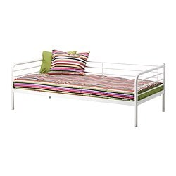 TROMSÖ day-bed frame with slatted bed base, white Length: 207 cm Width: 97 cm Height: 70 cm