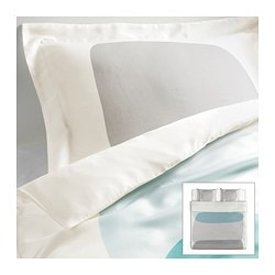 MALIN FIGUR quilt cover and 2 pillowcases, multicolour Quilt cover length: 220 cm Quilt cover width: 240 cm Pillowcase length: 50 cm