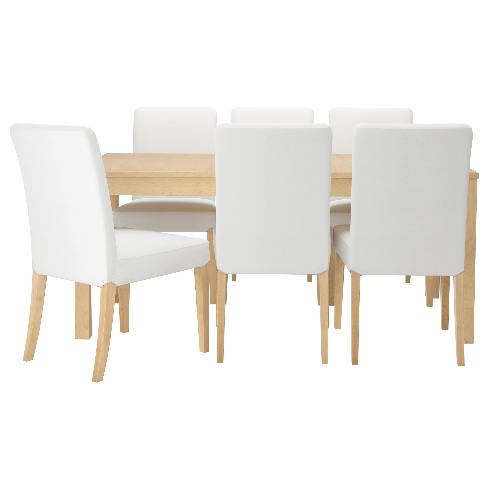 dining table seats 14 ikea. bjursta / henriksdal table and 6 chairs, birch veneer, gräsbo white length: 85 dining seats 14 ikea s