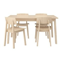 TRANETORP/ SIGURD table and 4 chairs, white stained oak