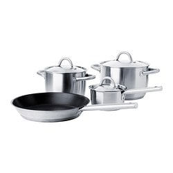 IKEA 365+ 7-piece cookware set, stainless steel