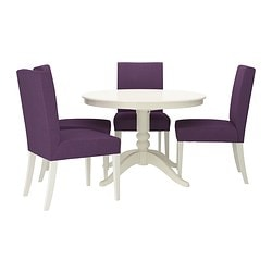 LIATORP/ HENRIKSDAL table and 4 chairs, Dansbo lilac, white