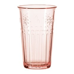 KROKETT glass, light pink Volume: 13 oz Volume: 38 cl