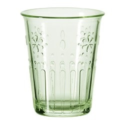 KROKETT glass, light green Height: 9 cm Volume: 17 cl