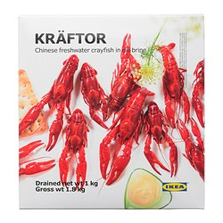 KRÄFTOR frozen crayfish in brine Net weight: 2.20 lb Net weight: 1000 g