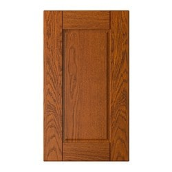 "LIXTORP door for corner wall cabinet, brown Width: 16 5/8 "" Height: 39 "" Thickness: 3/4 "" Width: 42.3 cm Height: 99 cm Thickness: 1.9 cm"