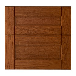"LIXTORP drawer front, set of 2, brown Width: 23 7/8 "" Height: 23 7/8 "" Thickness: 3/4 "" Width: 60.5 cm Height: 60.5 cm Thickness: 1.9 cm"