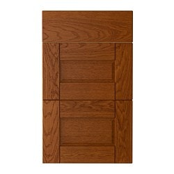 "LIXTORP deep drawer front, set of 3, brown Width: 14 3/4 "" Height: 30 1/8 "" Thickness: 3/4 "" Width: 37.6 cm Height: 76.5 cm Thickness: 1.9 cm"