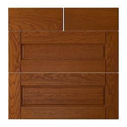 "LIXTORP drawer front, set of 4, brown Width: 29 3/4 "" Height: 30 1/8 "" Thickness: 3/4 "" Width: 75.7 cm Height: 76.5 cm Thickness: 1.9 cm"