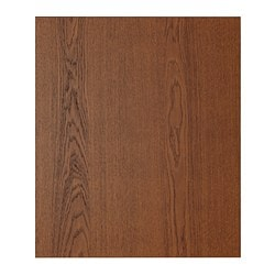 "PERFEKT LIXTORP cover panel for wall cabinet, brown Width: 12 7/8 "" Height: 32 3/4 "" Thickness: 1/2 "" Width: 32.6 cm Height: 83.3 cm Thickness: 1.3 cm"
