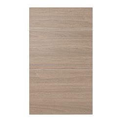 "SOFIELUND deep drawer front, set of 3, walnut effect light gray Width: 14 3/4 "" Height: 30 1/8 "" Thickness: 3/4 "" Width: 37.6 cm Height: 76.5 cm Thickness: 1.9 cm"