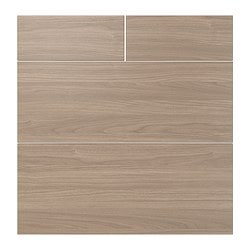 "SOFIELUND drawer front, set of 4, walnut effect light gray Width: 29 3/4 "" Height: 30 1/8 "" Thickness: 3/4 "" Width: 75.7 cm Height: 76.5 cm Thickness: 1.9 cm"