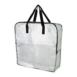 "DIMPA storage bag, clear Length: 25 ½ "" Depth: 8 ¾ "" Height: 25 ½ "" Length: 65 cm Depth: 22 cm Height: 65 cm"