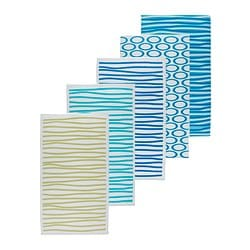 SPRINGKORN beach towel, blue, assorted patterns Length: 180 cm Width: 100 cm Surface density: 280 g/m²