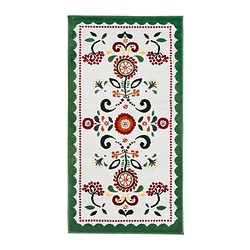 "ÅKERKULLA rug, low pile, multicolor, white Length: 4 ' 11 "" Width: 2 ' 7 "" Surface density: 8 oz/sq ft Length: 150 cm Width: 80 cm Surface density: 2400 g/m²"