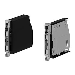 UTRUSTA large hinge for horizontal door, black Package quantity: 2 pack