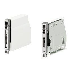UTRUSTA large hinge for horizontal door, white Package quantity: 2 pieces