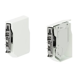 UTRUSTA small hinge for horizontal door, white Package quantity: 2 pieces