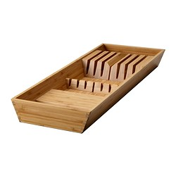 VARIERA knife tray, bamboo Width: 20 cm Depth: 50 cm Height: 5.4 cm