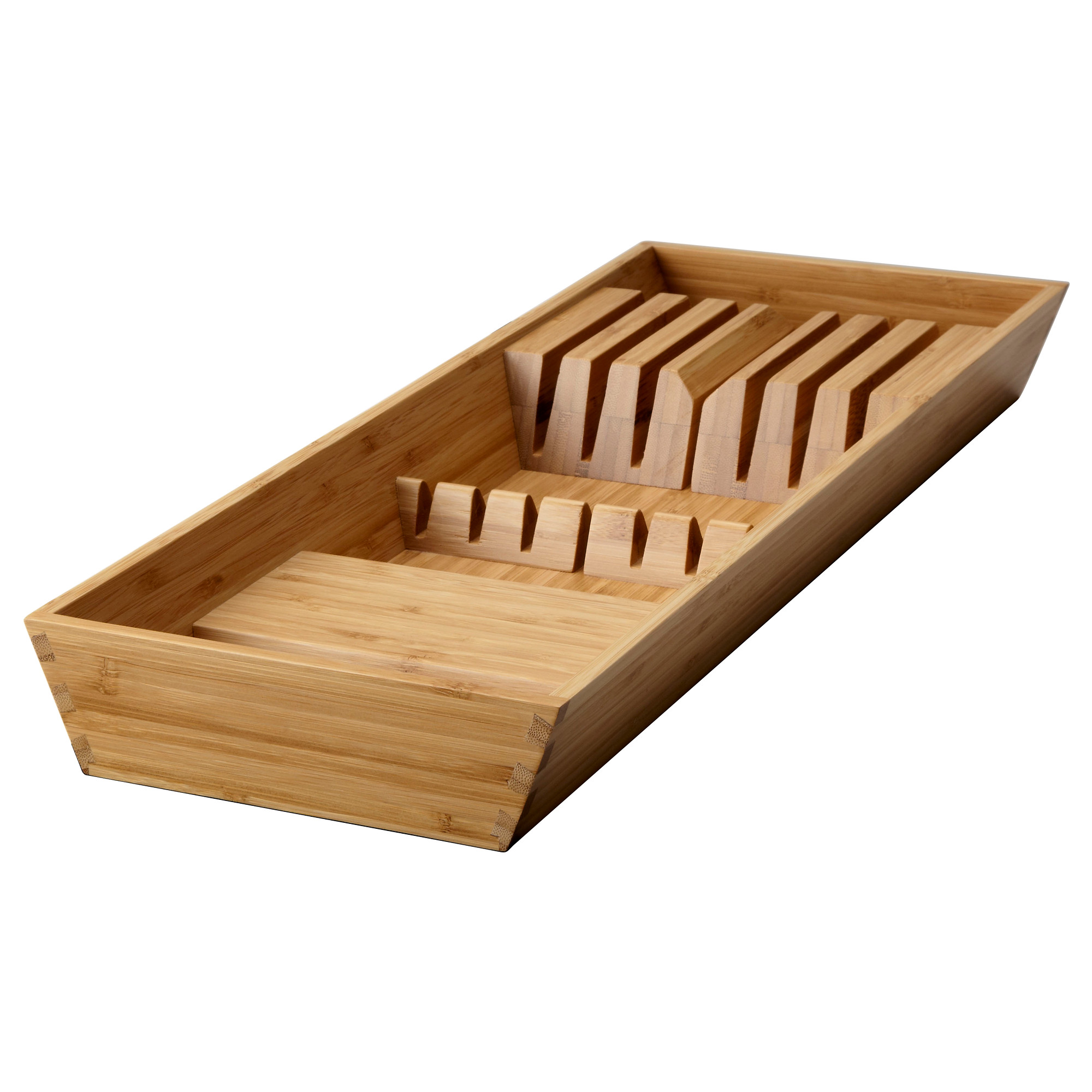 Kitchen cabinets 50cm depth - Variera Knife Tray Bamboo Width 20 Cm Depth 50 Cm Height 5 4